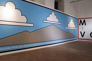Hamish Fulton - Sicily Wall Variation e Migrant Volcano - Palazzo Platamone - Catania