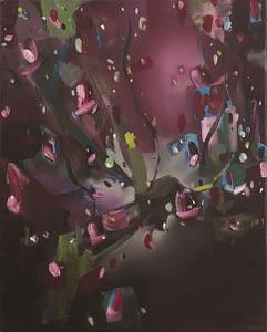Fabio La Fauci, Piccola natura morta, 2014, china e olio su carta, cm 50x40