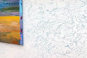 6- A perfect day, dettaglio dell'installazione Pisciotto, olio su tela, pigmento a parete, 2015- 16
