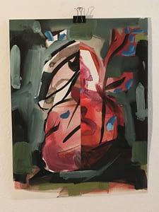 Fabio La Fauci, Nudes in the Wood, 2014, china e olio su carta, cm 48x36 (2)
